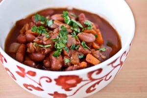 Kidney Beans Stewed in Red Wine